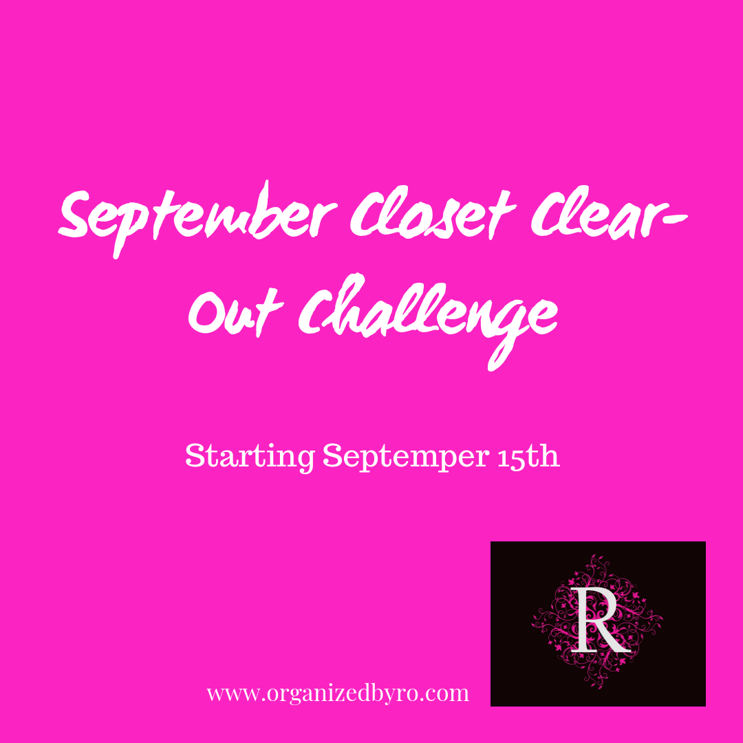 September Closet Clear-Out Challenge